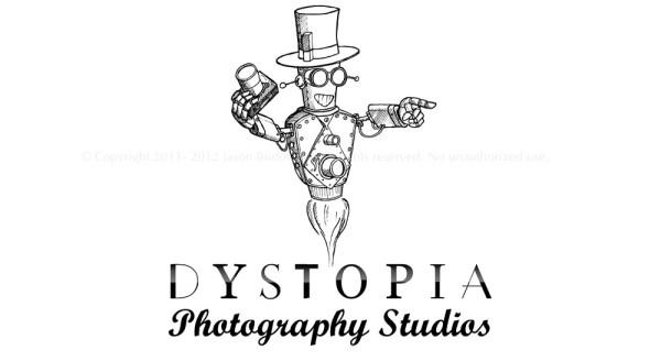 dystopia photography studio oklahoma steampunk robot logo