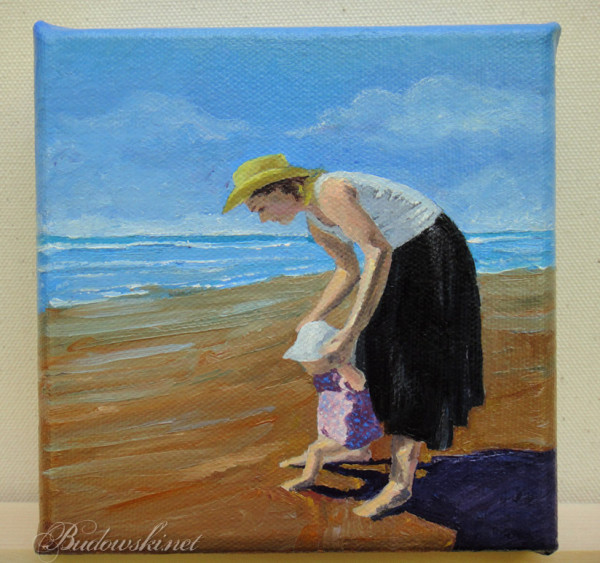 budowski - at the beach painting photo for tulsa 5x5 art show